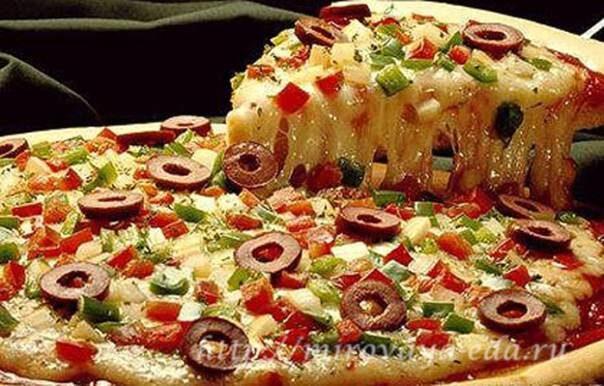 «Каприччиоза» - пицца с шампиньонами