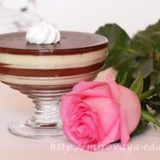 Десерт Черное и белое