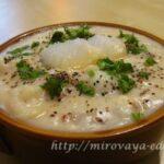 Овощной суп чаудер в духовке
