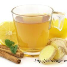 Холодный имбирный чай