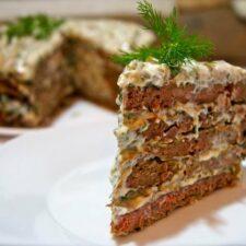 Нежнейший торт из печени