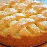 Яблочный пирог с нежнейшим заварным кремом
